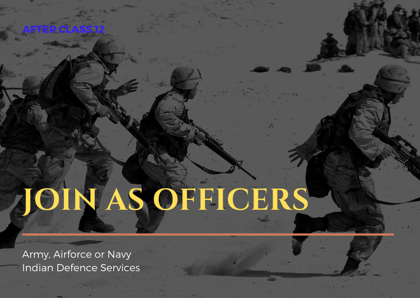 Admission Process to join Indian Army, Airforce or Navy as an officer after class 12